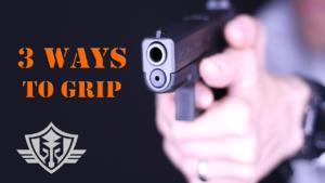 grip a handgun